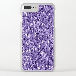 Ultra violet purple glitter sparkles Clear iPhone Case