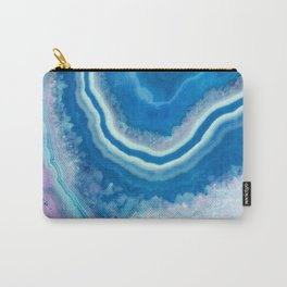 Teal and violet agate Carry-All Pouch