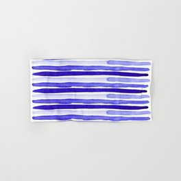 Ultra Violet Watercolour Stripes Hand & Bath Towel
