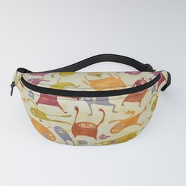 Watercolor Critter Pattern Alpha Fanny Pack