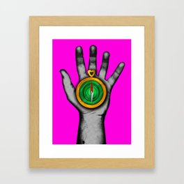 'Follow your heart' Framed Art Print