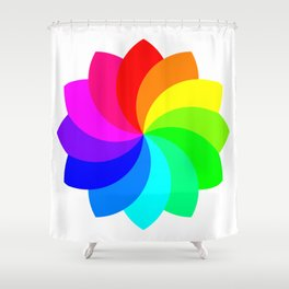 12 Petal Flower of Footballs Shower Curtain