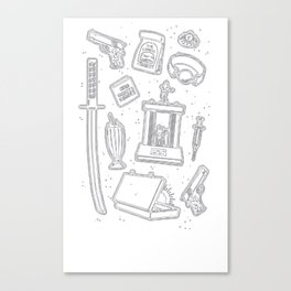 CULT CLASSIC ICONS T-SHIRT Canvas Print