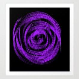 Purple Loop Illusion Art Print