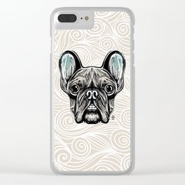 French Bulldog Smilling Clear iPhone Case