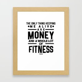 Muscles Fitness Gym Workout saying Framed Art Print