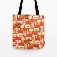 junk food Tote Bags featuring Junk Food by popsicledonut
