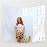 hollywood Wall Tapestries featuring Hollywood by Vanadium Graphics