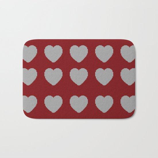 Wool Heart Bath Mat