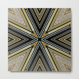 Glam Cross Star Metal Print
