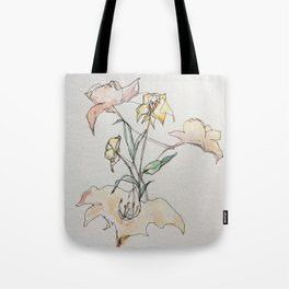 Resting flowers Tote Bag