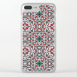Doodle Pattern 16 Clear iPhone Case