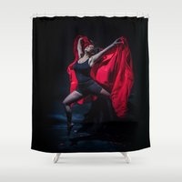 spanish Shower Curtains featuring Spanish Dancer by Sacred Visions