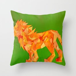 Lion collage of paint samples Throw Pillow