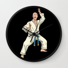 Karate fighters before attack Wall Clock