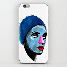 Woman's head iPhone & iPod Skin