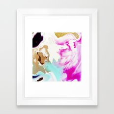 Happiness Ever Abstract Watercolor Painting Framed Art Print