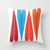 valentines Throw Pillows featuring Tall Valentines by KatieKatherine