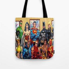 Superman Green Lantern Comic Tote Bag