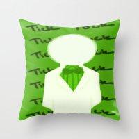 homestuck Throw Pillows featuring Doc Scratch by MandaSociety6