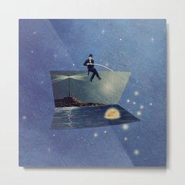 The moon fisherman Metal Print