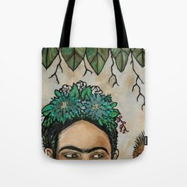 Escondida Frida The eyes have it... Folkart Style Tote Bag