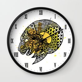 Zodiac Zentangle - Aries Wall Clock