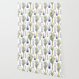 bottles and boutonnieres pattern Wallpaper