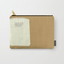Literary Quote Poster — Light in August by William Faulkner Carry-All Pouch