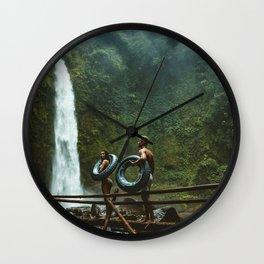 Adult adventure beauty mountain Wall Clock