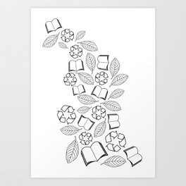 recycle reuse Art Print