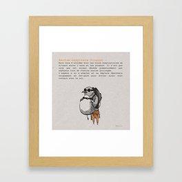 Rectum-respirare-Pinguyn Framed Art Print