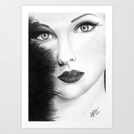The Girl with stars in her eye's Art Print