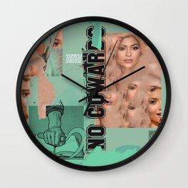 No Cowards Wall Clock