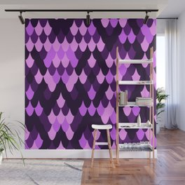 Purple Flakes Wall Mural