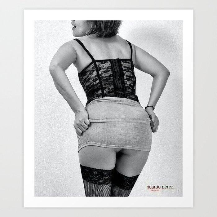 Upskirt Art Print