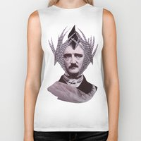 edgar allan poe Biker Tanks featuring EDGAR ALLAN POE by MELANCHOLIE (mit MONSTERN)