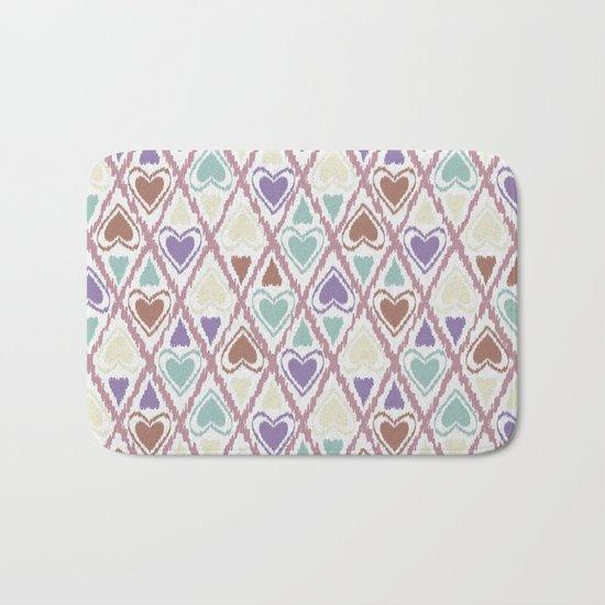 Favorite pattern . Brown and purple . Bath Mat