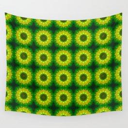 Lemon Lime Mandala Wall Tapestry