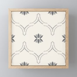 WILDFLOWER JASMIN GREY Framed Mini Art Print