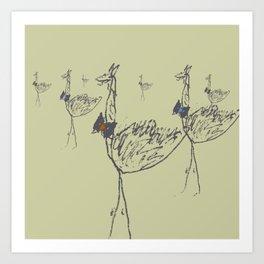 Flamboyant Llama-Ostrich Children - 2 Art Print