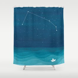 Aries zodiac constellation Shower Curtain