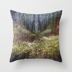 Forest Mandala Throw Pillow