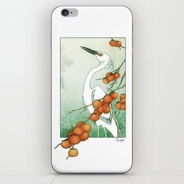 Egret and Persimmons iPhone Skin