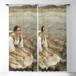 Jules Bastien-Lepage - Hay making Blackout Curtain