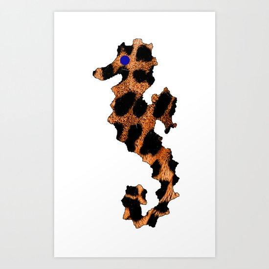 SEA LEOPARD Art Print