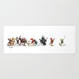 The Fraggle Parade Art Print