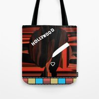 hollywood Tote Bags featuring Hollywood by AndISky