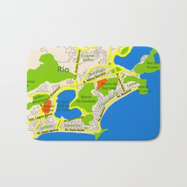 RIO map design - Brasil Bath Mat