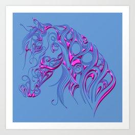 Chiseled Pink Horse Art Print